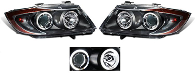 Jual Headlamp Projector Ccfl Bmw E BMW CCFL Angel Eye Black Projector Headlights 3 Series E90 4dr 06 x